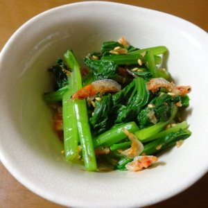 簡単!桜えびと小松菜の和え物