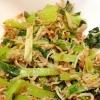 小松菜としらすのごま油炒め