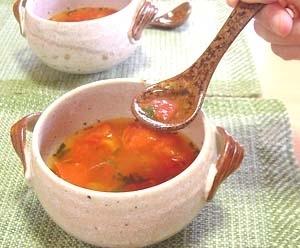 寒天屋さんのとろ~りしそとトマトのスープ