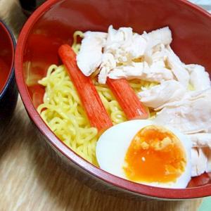 鶏ガラだしの塩ダレで食べるつけ麺