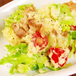 簡単がっつり野菜とおかず☆豚肉入りポテトサラダ