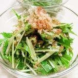 水菜ともずくの和風サラダ