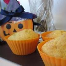 ノンバターでもしっとり☆かぼちゃのマフィン