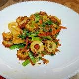 小松菜と竹輪の炒め物