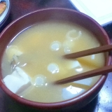 アサリの具沢山みそ汁@白菜&豆腐【タウリンパワー】