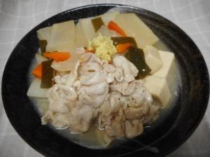 豚肉、大根、高野豆腐のとろみ煮