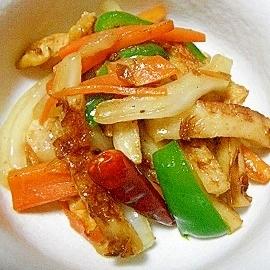 鶏皮でおつまみ野菜