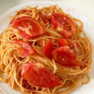 トマトのせスパゲティ