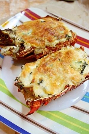簡単&美味しい♪伊勢海老のチーズたっぷりグリル
