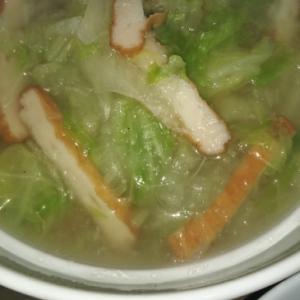 白菜と平天の大根とろとろ春雨スープ(≧▽≦)