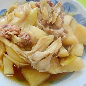 大根と舞茸玉ねぎ豚肉の煮物