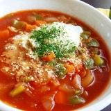 減塩でも美味☆インスタント麺でトマトラーメン