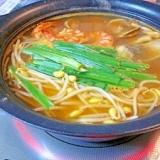 大辛韓国鍋☆ 鶏ガラスープで「アサリ鍋」