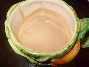 ミルクコーヒーにメープルシロップ