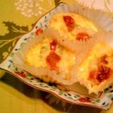 牡蠣のカップ卵焼き