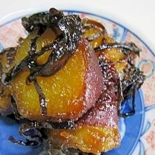 ずぼら飯 サツマイモの塩昆布煮