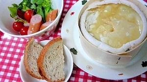 モンドールのチーズフォンデュ