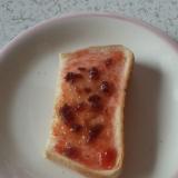 苺ジャムと餡子のトースト