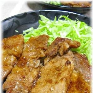 お弁当のおかずにも・・豚の生姜焼き