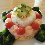 お誕生日に、簡単なちらし寿司ケーキ!