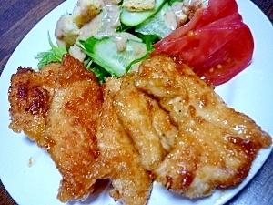 にんにく生姜たっぷり~鶏ムネ肉の照り焼き**