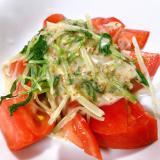 トマトと水菜のゴマドレサラダ