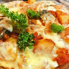 鯖とポテトのトマトチーズ焼き