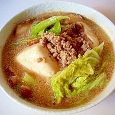 ごま味噌スープ