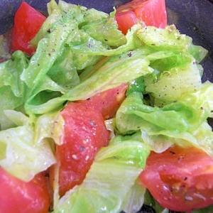 トマトとレタスのサッと炒め