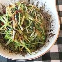 水菜と塩昆布だけの簡単炒め物