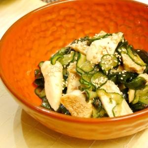 サラダチキンの梅ポン酢和え★ボリューム満点