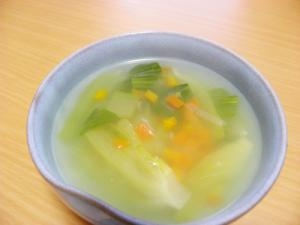 彩りキレイな、簡単♪中華スープ