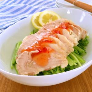 ☆蒸し鶏のスイートチリソースサラダ☆