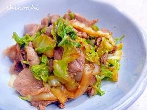 さっと作れるお助けおかず☆豚肉と白菜の味噌炒め