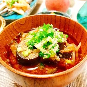 糖質制限☆茄子とモヤシのお味噌汁