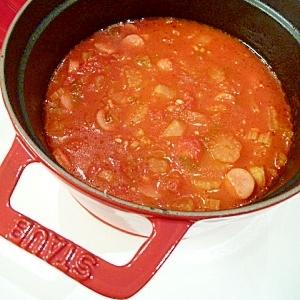 セロリ嫌いでも!セロリとウインナーのトマトスープ