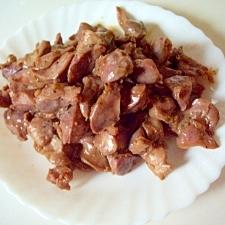鶏の砂肝スタミナ炒め(にんにく風味)