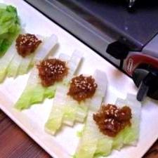 白菜の梅肉のせ