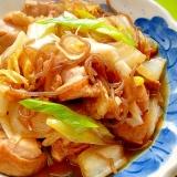 白菜と鶏肉、糸こんにゃくのピリ辛煮
