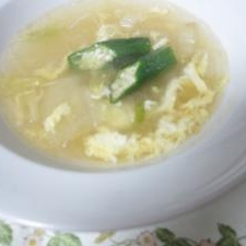 白菜とはるさめの簡単スープ