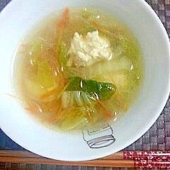 鶏団子のコンソメスープ