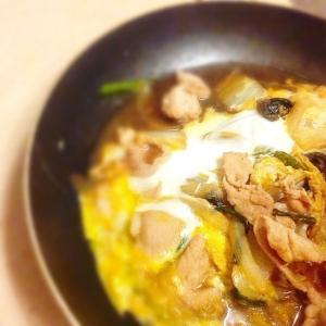 簡単☆豚肉の卵とじ