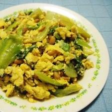 青じそドレッシングでサラダ的シャキシャキ納豆いり卵