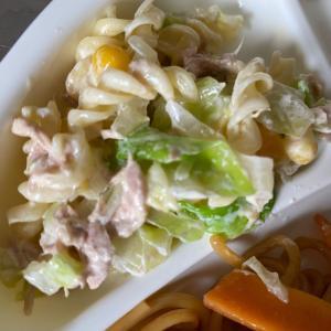 春キャベツのマカロニサラダ