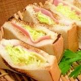 4枚切り食パン☆ポケットキャベツサンド