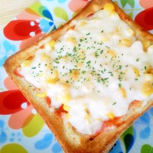 簡単朝食♪マヨ・コーン・チーズの絶品トースト^^