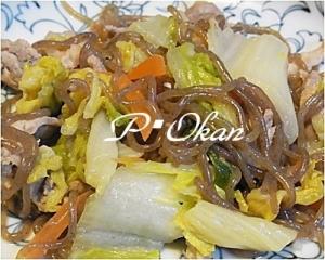 豚肉、白菜の塩麹炒め