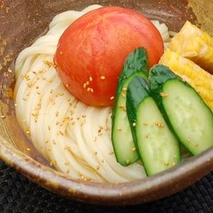 野菜が美味しく食べられるだし漬け野菜ぶっかけうどん
