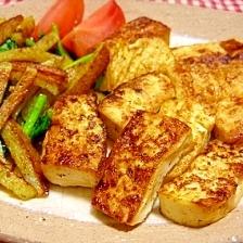 豆腐のカレー風ステーキ