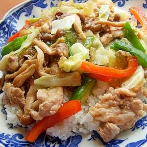 ダシダで❤中華丼風ヘルシーご飯♪(卵なし)